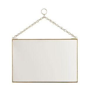 Madam Stoltz Rektangulär spegel 30x20 cm Mässing