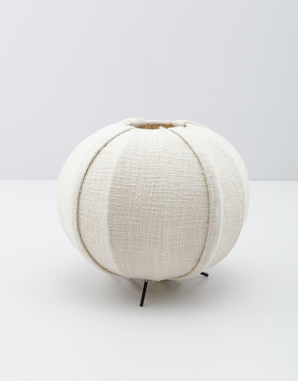 Indiska Rund bordslampa i bomull   Off white