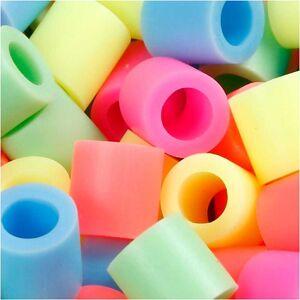 Nabbi Rörpärlor, stl. JUMBO mm, stl. 10x10 mm, 2450 mix., pastellfärger