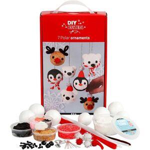 Foam Clay Polardjur - dekorationskulor, 1 set