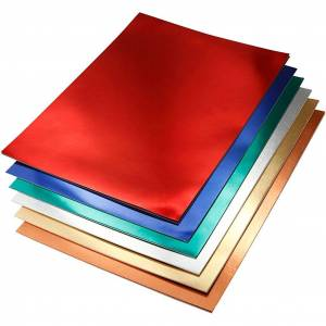 Paper Concept Metallkartong, A4 210x297 mm, 280 g, 30 mix. ark, mixade färger