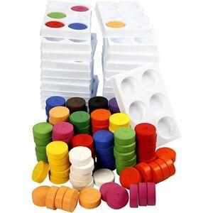 Colortime Vattenfärg, dia. 44 mm, H: 16 mm, 1 set, mixade färger