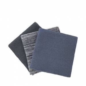 BLOMUS Wipe, Stickad Disktrasa 3 St - Magnet/flint Stone/melange