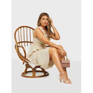 Pieces Pcmina Sl Midi Dress Gold Loose fit dresses