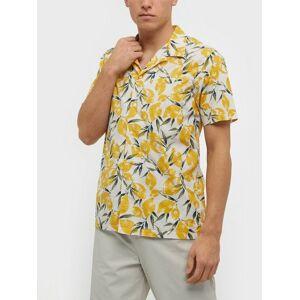 Gant D2.Lemon Pri Reg Riviera Collar Ss Skjorta Eggshell