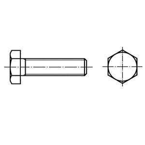 TOOLCRAFT  126681 Sexkantsskruvar M8 180 mm Yttersexkant DIN 933   Stål  100 st