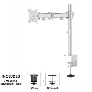 """NewStar NM-D135SILVER 1x Monitor bordsfäste 25,4 cm (10"""") - 76,2 cm (30"""") Tiltbar, Svängbar"""