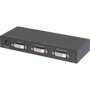 Renkforce  2 Port DVI-Splitter Ultra HD-kapabel 3840 x 2160 pixel Svart