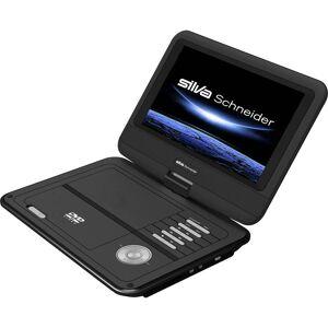 Silva Schneider DVD 926 USB Bärbar DVD-spelare 23 cm 9 tum  inkl. 12 V strömkabeln för fordon Svart