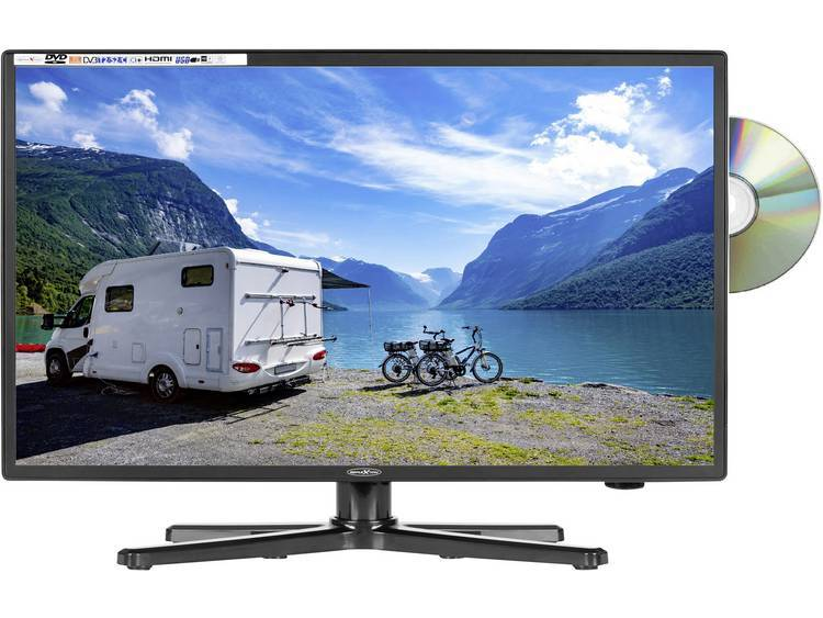 Reflexion LED-TV 24 tum EEK A (A+++ - D) CI+, DVB-C, DVB-S2, DVB- T2 HD, PVR ready, DVD-Player, Full HD Svart (glänsande)