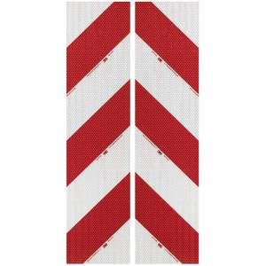 3M High Intensity Grade 3410 3410AP14 Fordon-varningsmarkering Vit (reflekterande), Röd (reflekterande) 2 st (L x B) 9 m x 141 mm