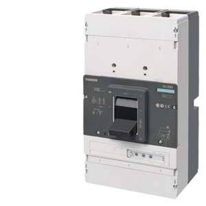 Siemens 3VL7710-3TH46-0AA0 Brytare 1 st  Inställningsområde (ström): 400 - 1000 A Växelspänning (max.): 690 V/AC (B x H x D) 305 x 406.5 x 333.5 mm