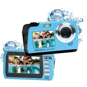 "Easypix W3048-I ""Edge"" Digitalkamera 48 Megapixel  Is, Blå  Undervattenskamera, Frontdisplay"