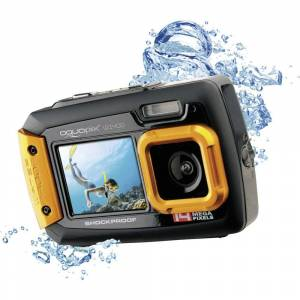 Easypix W-1400 Digitalkamera 14 Megapixel  Svart, Orange  Dammskyddad, Undervattenskamera, Frontdisplay