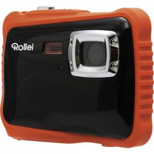 Rollei Sportsline 65 Digitalkamera 8 Megapixel  Svart, Orange  Full HD Video, Stöttålig, Undervattenskamera