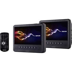 Lenco MES-212 DVD-spelare med 2 skärmar Bilddiagonal=17.5 cm (7 tum)