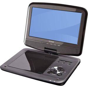 Denver MT-980T2H Bärbar TV med DVD-spelare 22.86 cm 9 tum EEK: A (A++ - E) Batteridrift, inkl. 12 V strömkabeln för fordon, med integrerad DVD-spelare, inkl. DVB-T-antenn Svart