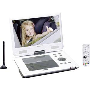 Lenco DVP-1063WH Bärbar DVD-spelare 25.4 cm 10 tum EEK: A (A++ - E) Batteridrift, inkl. 12 V strömkabeln för fordon, med integrerad DVD-spelare, inkl. DVB-T-antenn Vit