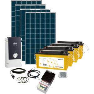 Phaesun Solar Rise Seven 600282 Solcells-kit 1000 Wp inkl. batteri, inkl. anslutningskabel, inkl. laddare, inkl. växelriktare