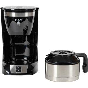 SOGO Human Technology Drip Inox 10 Kaffebryggare Svart  Kapacitet Koppar=10 Glaskanna, Varmhållningsfunktion