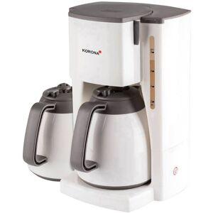 Korona 10310 Kaffebryggare Vit  Kapacitet Koppar=8 Isolerad kanna