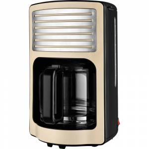 TKG Team Kalorik TKG CM 2500 Kaffebryggare Cremevit  Kapacitet Koppar=15 Glaskanna