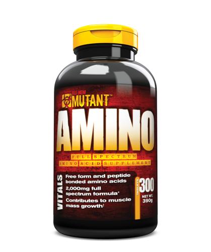Mutant Nutrition Amino, 300tabl.