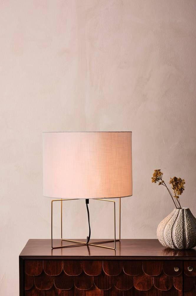 DIEGO bordslampa Vit/guld