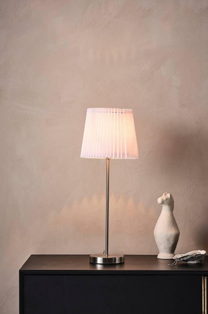 MAIZE bordslampa Nickelsatin/vit