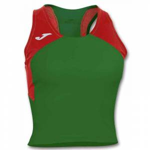 Joma Record Ii Sleeveless S Green / Red