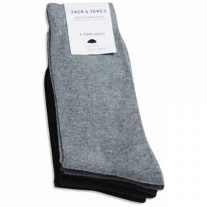 Jack & Jones Jacjens Sock 5 Pack One Size Dark Grey Melange