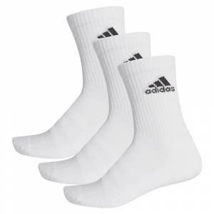 Adidas Cushion Crew 3 Pair EU 43-45 White / White / Black