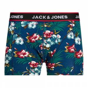 Jack & Jones Flower Trunks Detail Bardaboes Cherry 3 Pack XL Black