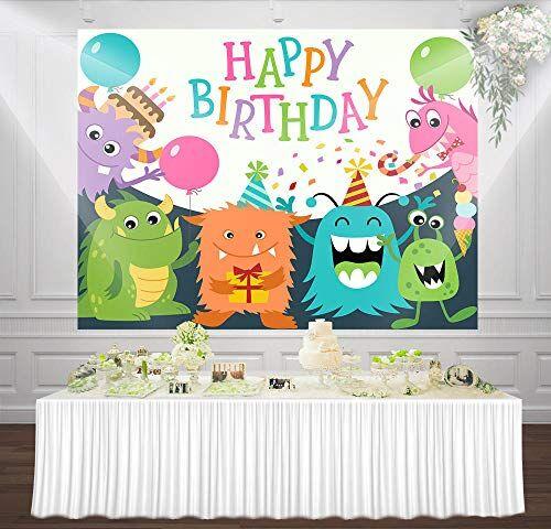 BEFUSC6659 Fotostudio bakgrund vinyl söt monster party bakgrunder djur bakgrunder lätt att bära foto bakgrund vägg täckning vardagsrum bakgrundsgardiner för fest fotograferingsbakgrund