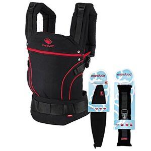 Manduca Babytrage BlackLine Premium Bundle  Radical Red