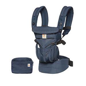 Ergobaby Bärväska för nyfödda från födseln, 4-i-1 Omni 360 Cool Air Mesh babyväska, Midnattsblå
