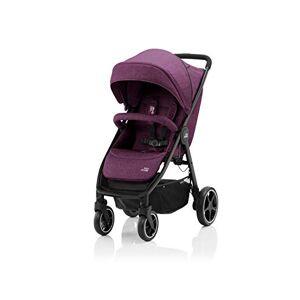 Britax B-AGILE M barnvagn, kompakt och ihopfällbar med en hand, barn 0 22 kg, för spädbarn till 4 år, Cherry Wine