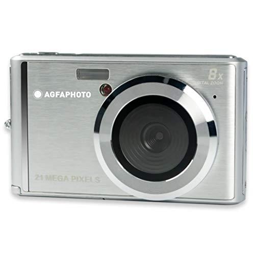 DC5200-SIL AGFA Foto – kompakt digitalkamera med 21 megapixel CMOS-sensor, 8x digitalzoom och LCD-display silver