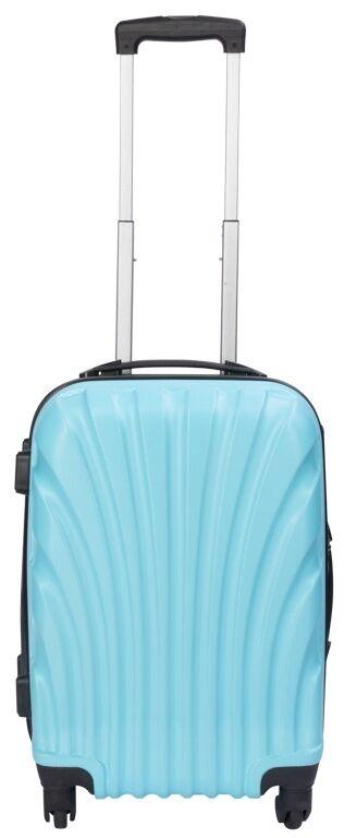 Borg Design Rullväska- Ljusblå - Hard Case Resväskeset - Stötsäker Polypropylen