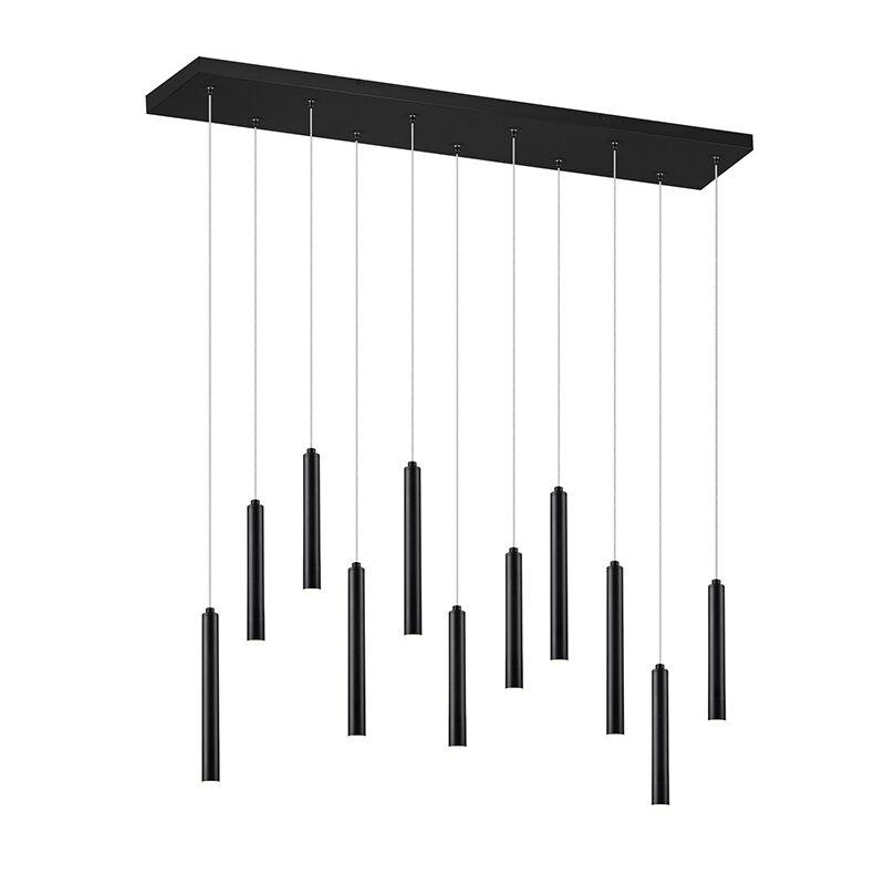 Trio Leuchten Hänglampa svart inkl. LED 3-stegs dimbar 11-ljus - Tubas