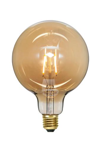Star Trading LED-Lampa E27 G125 Plain Amber