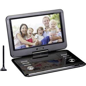 Denver MT-1150T2H Bärbar TV med DVD-spelare 29.2 cm 11.5 tum EEK: B (A++ - E) Batteridrift, inkl. DVB-T-antenn, inkl. 12 V strömkabeln för fordon, med