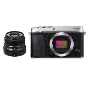 Fujifilm X-E3 kamerahus silver +Fujinon XF 23mm f/2,0 R WR
