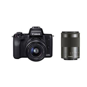Canon EOS M50 svart med EF-M 15-45/3,5-6,3 IS STM + EF-M 55-200mm f/4,5-6,3 IS STM