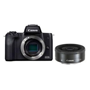 Canon EOS M50 svart kamerahus + EF-M 22mm f/2 STM