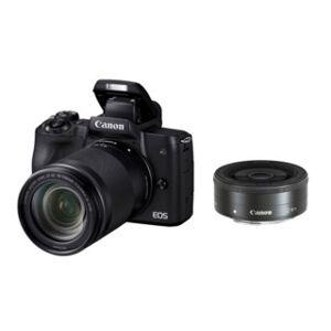 Canon EOS M50 svart + EF-M 18-150mm f/3,5-6,3 IS STM + EF-M 22mm f/2 STM