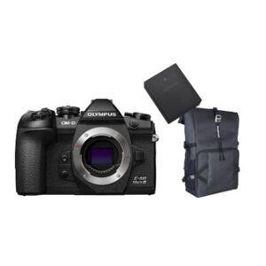 Olympus OM-D E-M1 Mark III kamerahus +kameraryggsäck + Batteri BLH-1