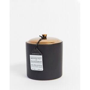 Paddywax HYGGE – Svart ljus i keramikbehållare med doft av bergamot och mahogny-Ingen färg