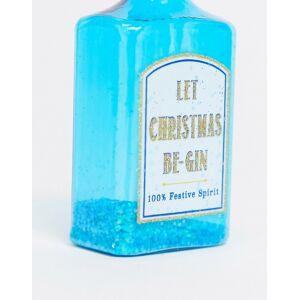 """Sass & Belle - Blå julgranskula med texten """"Let the fun Be-gin"""""""