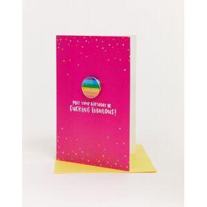 Lucy Maggie – May your birthday be fucking fabulous card – Gratulationskort-Flerfärgad